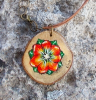 hand crafted wooden necklace